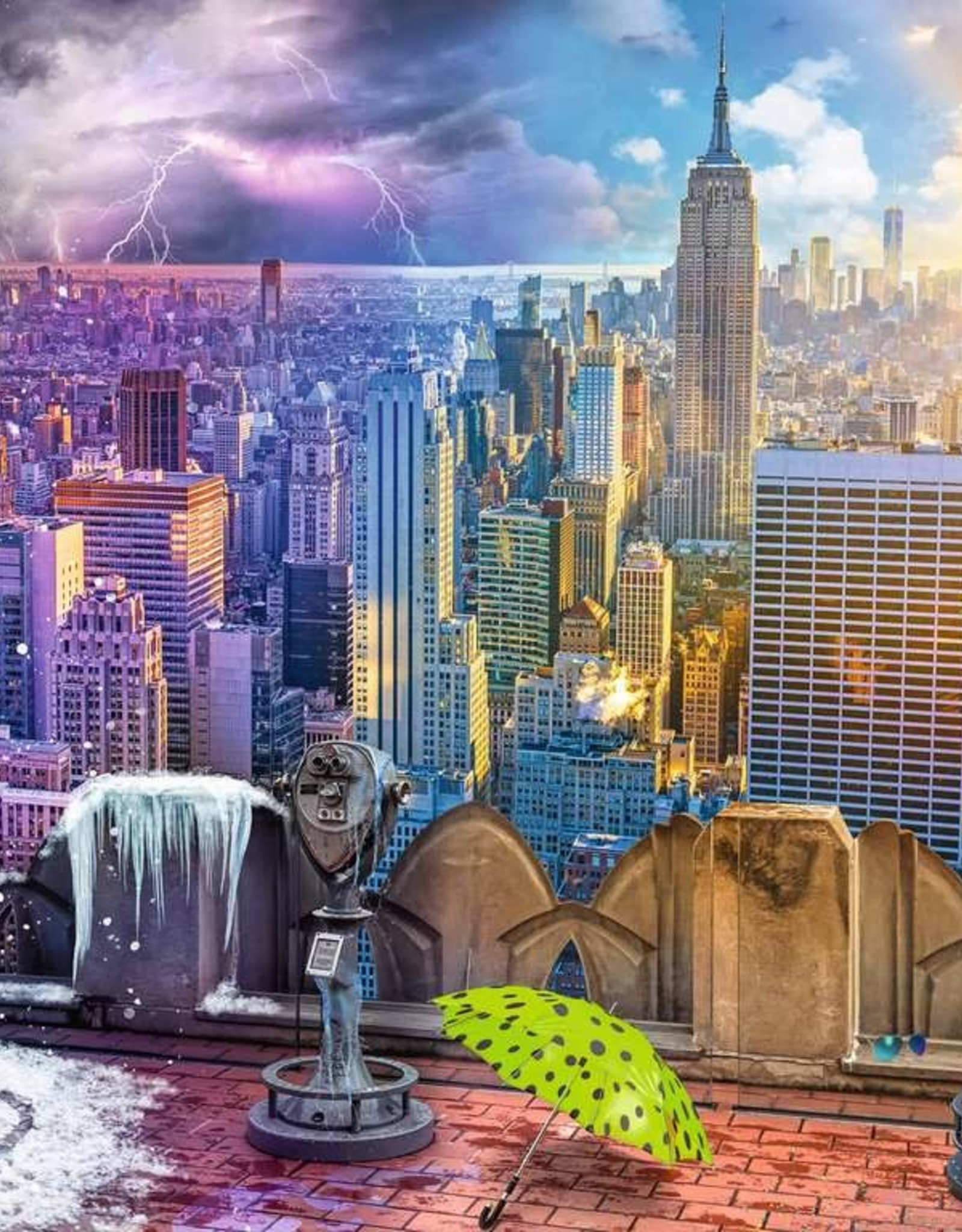 Ravensburger Day and Night NYC Skyline Puzzle 1500 PC
