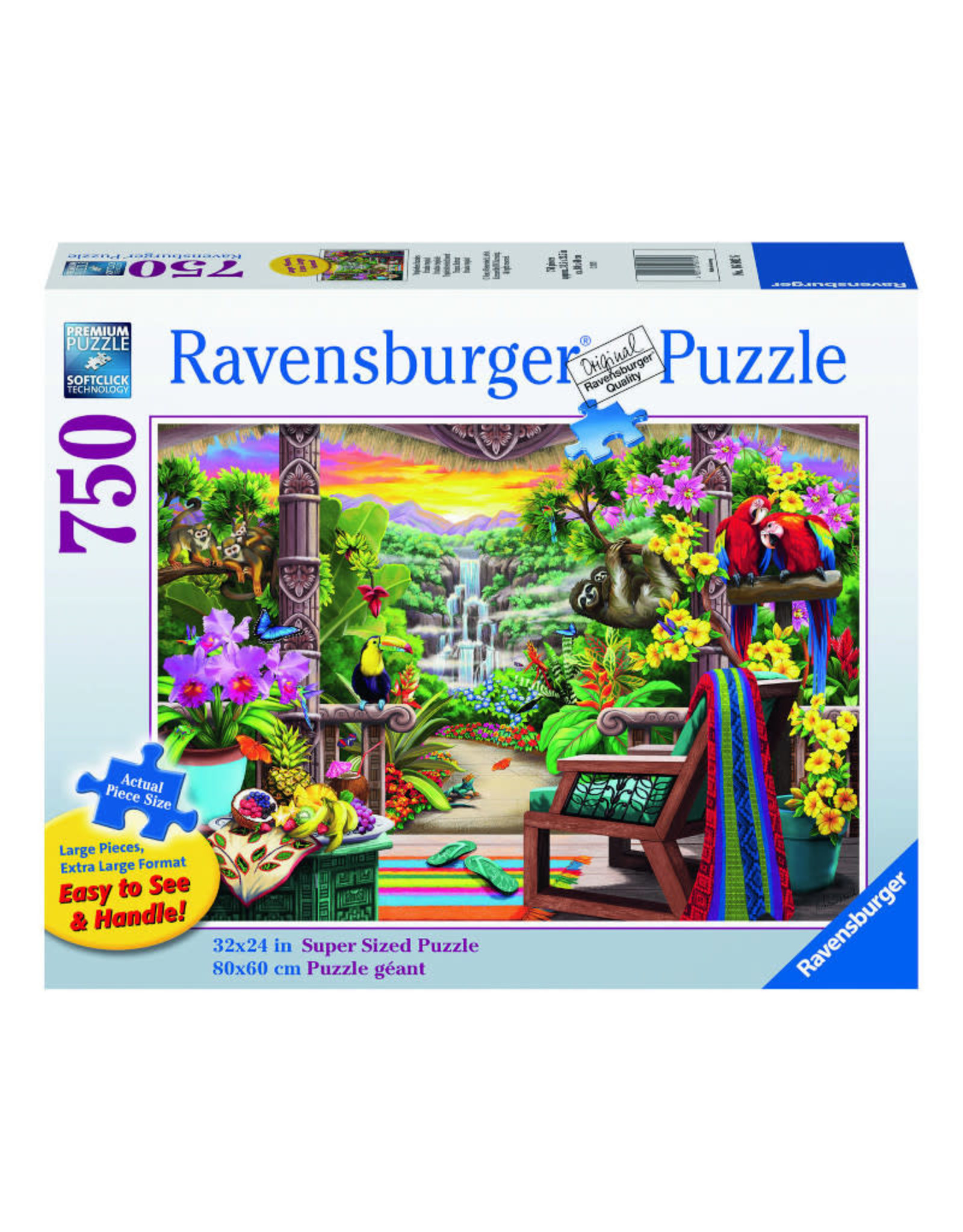 Ravensburger Tropical Retreat Puzzle 750 PCS Large Format