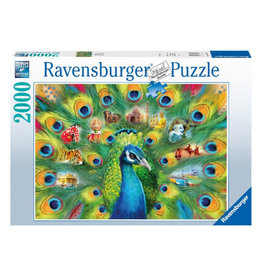 Ravensburger Land of the Peacock Puzzle 2000 PCS