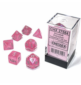 Chessex Polyhedral Dice Set: Borealis Pink Set (7)