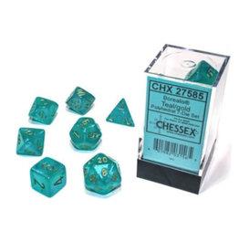 Chessex Polyhedral Dice Set: Borealis Teal Set (7)