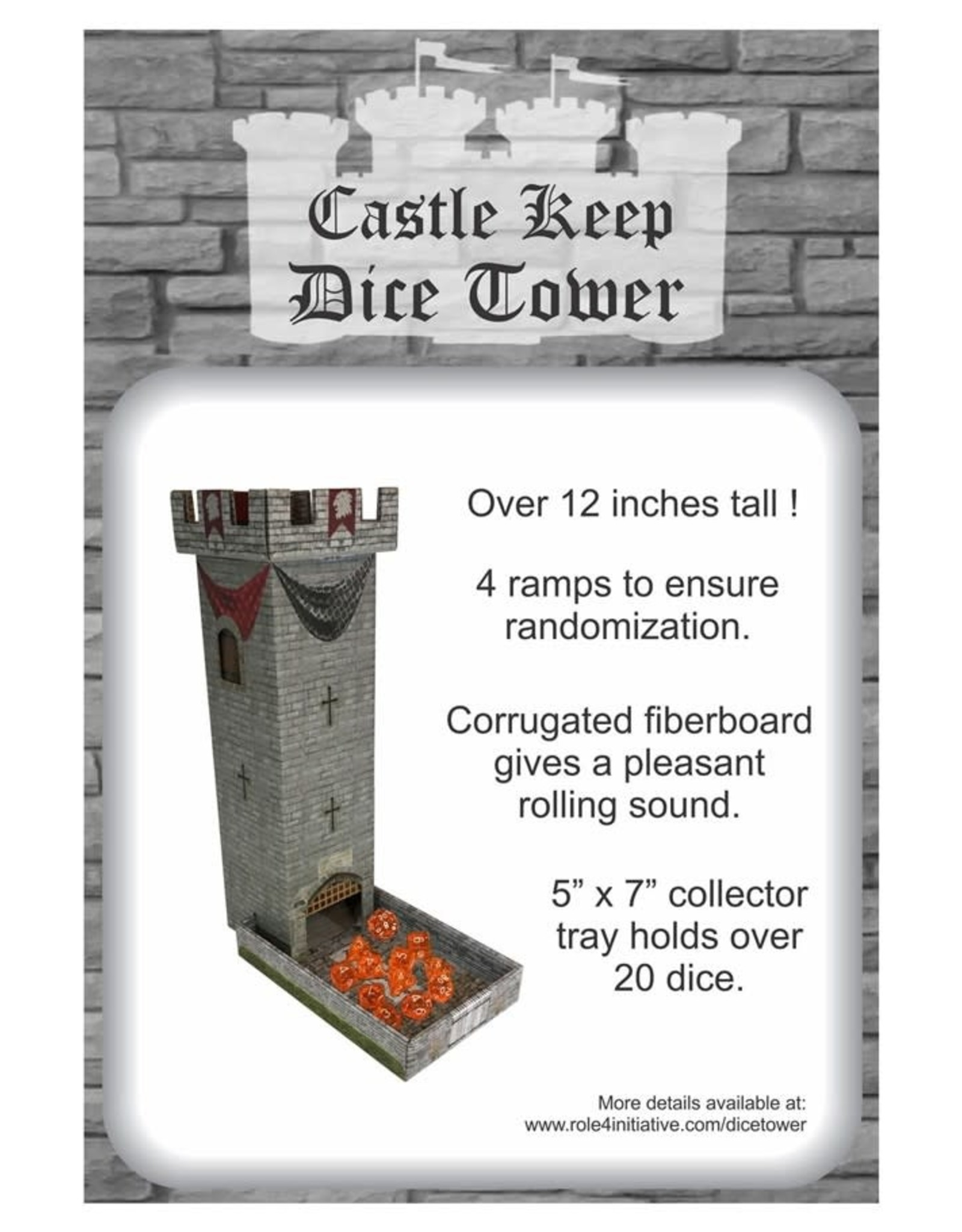 Role 4 Initiative Dice Tower: Castle Keep