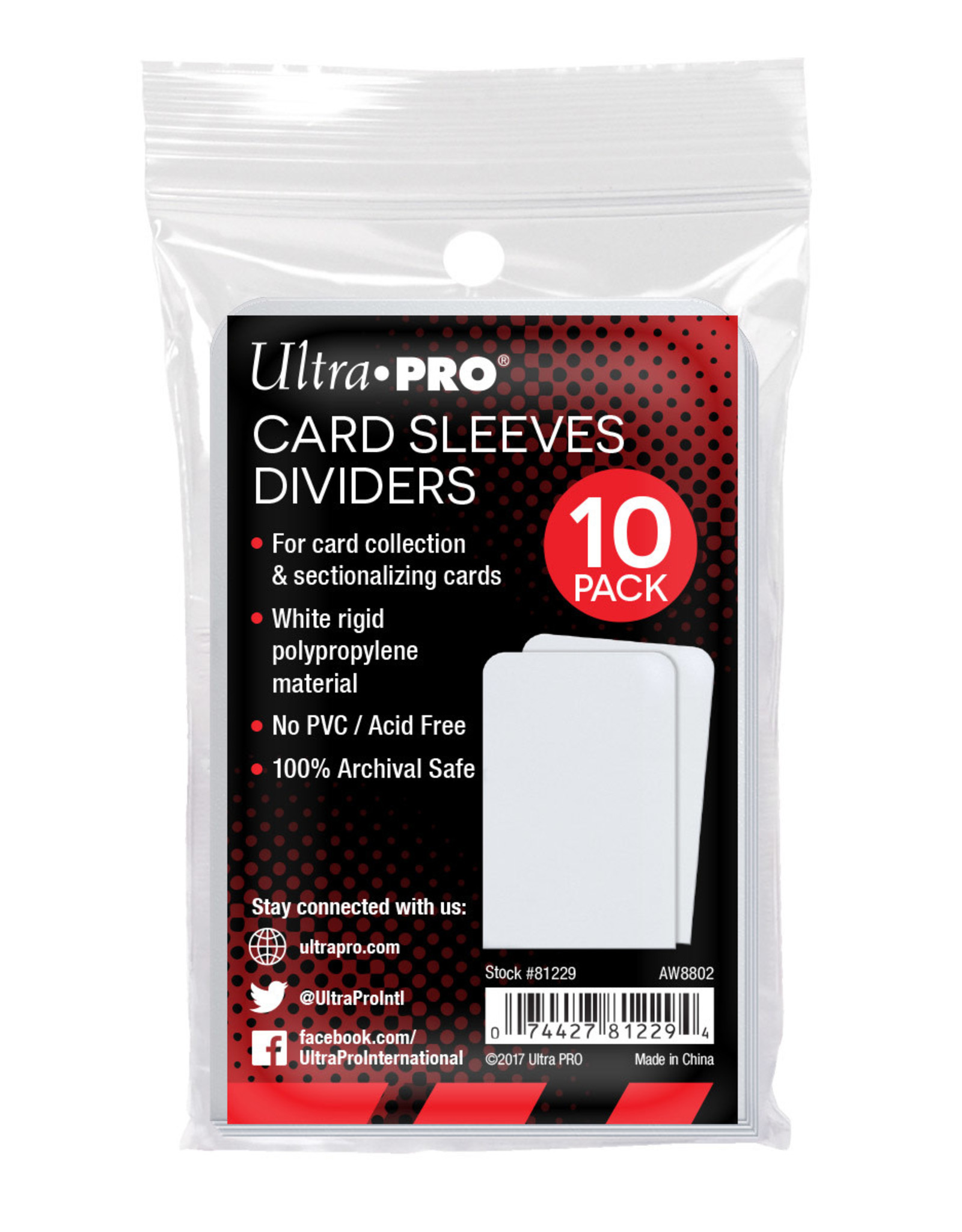 Card Dividers (10) White