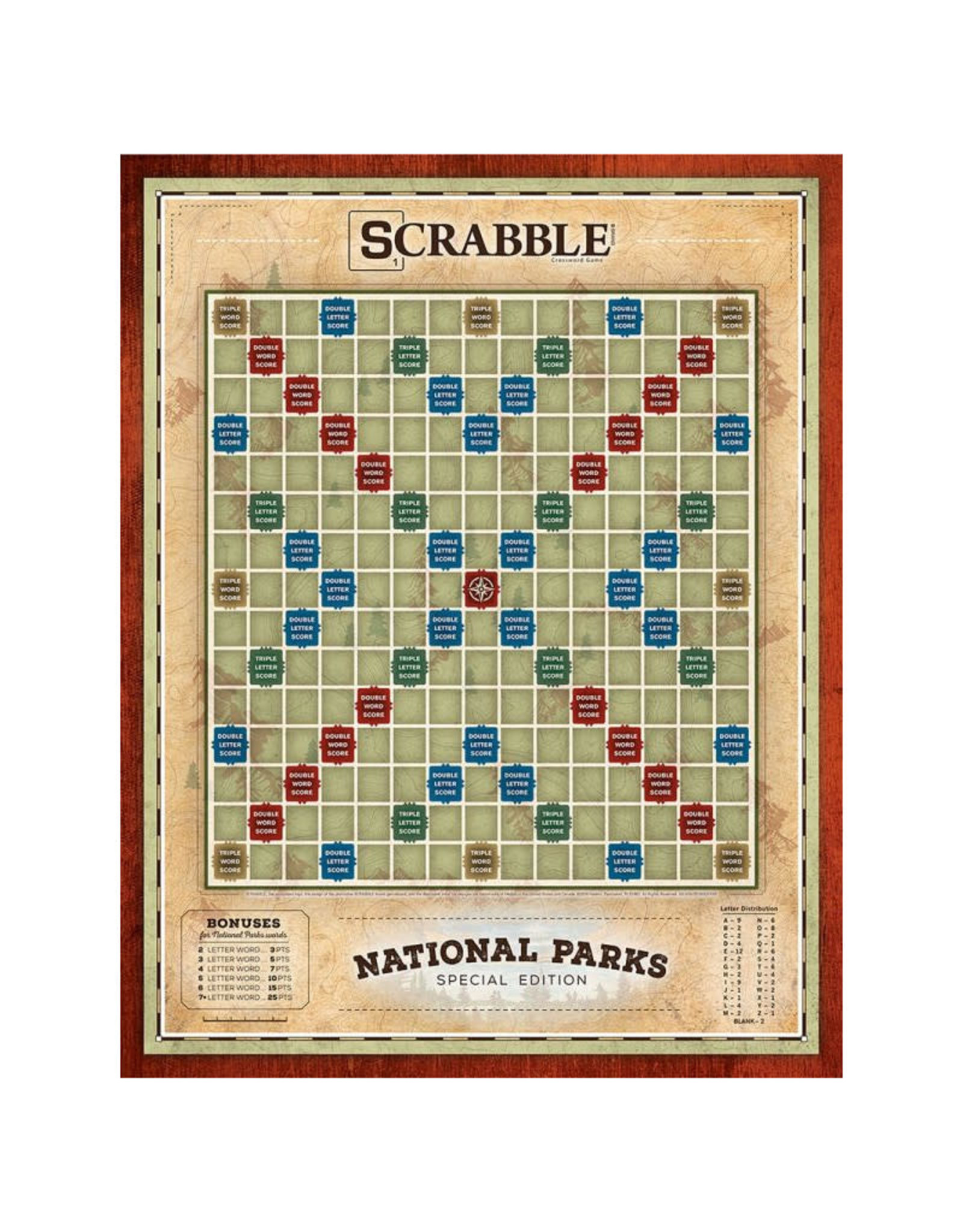 USAopoly Scrabble National Parks