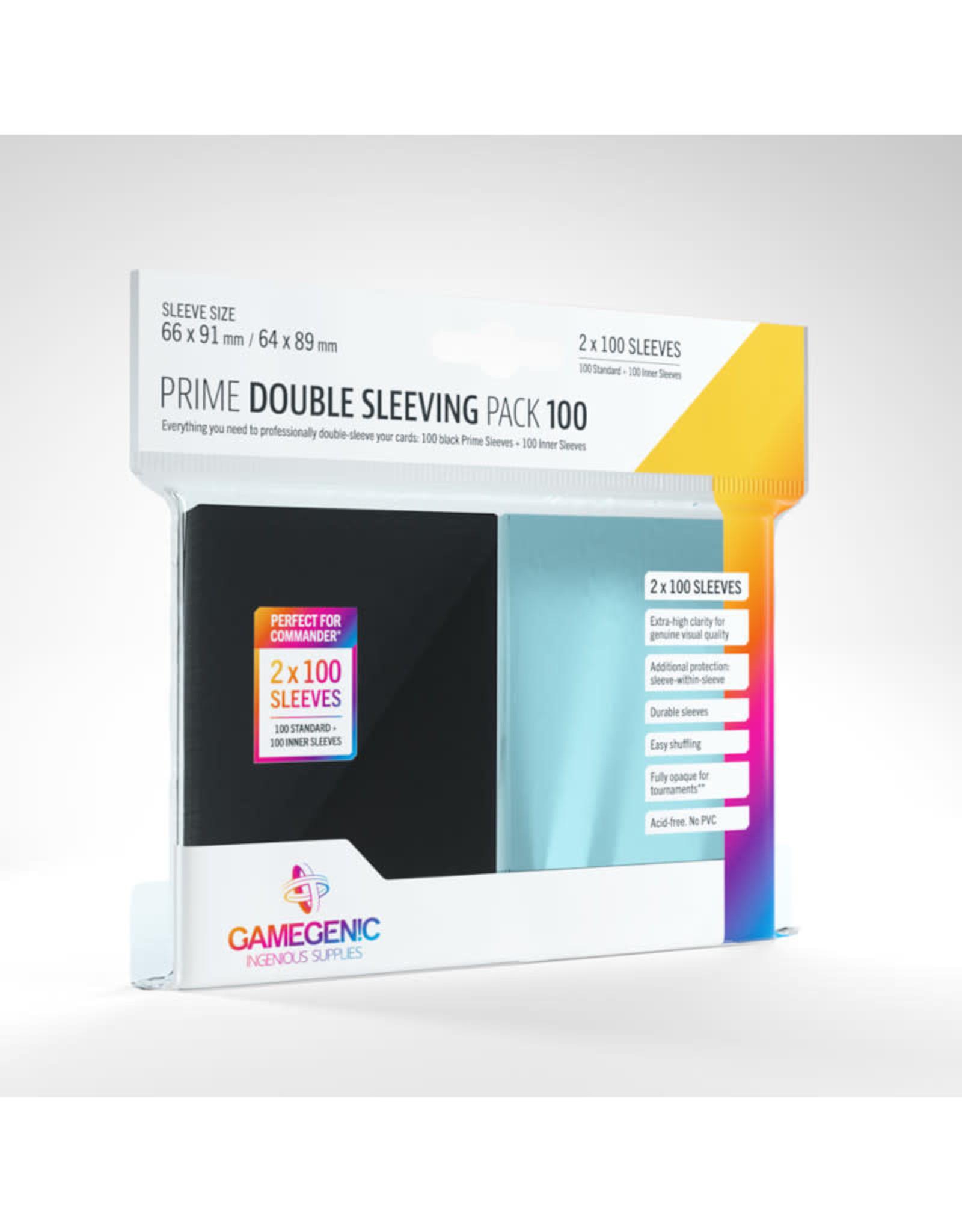 Double Sleeving Pack: Prime (100) Inner and Black Sleeves