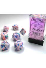 Chessex Polyhedral Dice Set: Festive Pop Art/Blue (7)