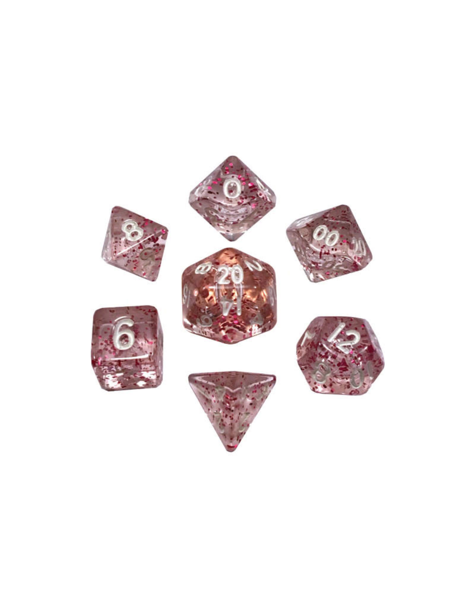 Metallic Dice Games Mini Polyhedral Dice Set: Ethereal Light Purple