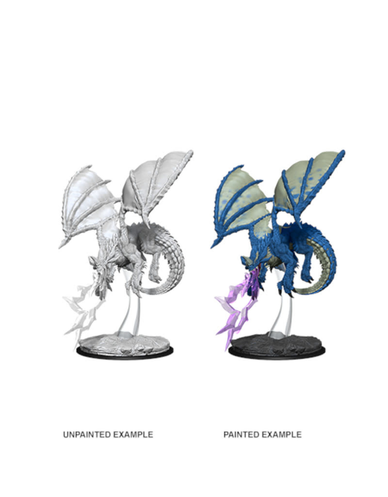 Wizkids D&D Unpainted Minis: Young Blue Dragon