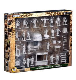 Wizkids Deep Cuts Unpainted Minis: Townspeople & Accessories