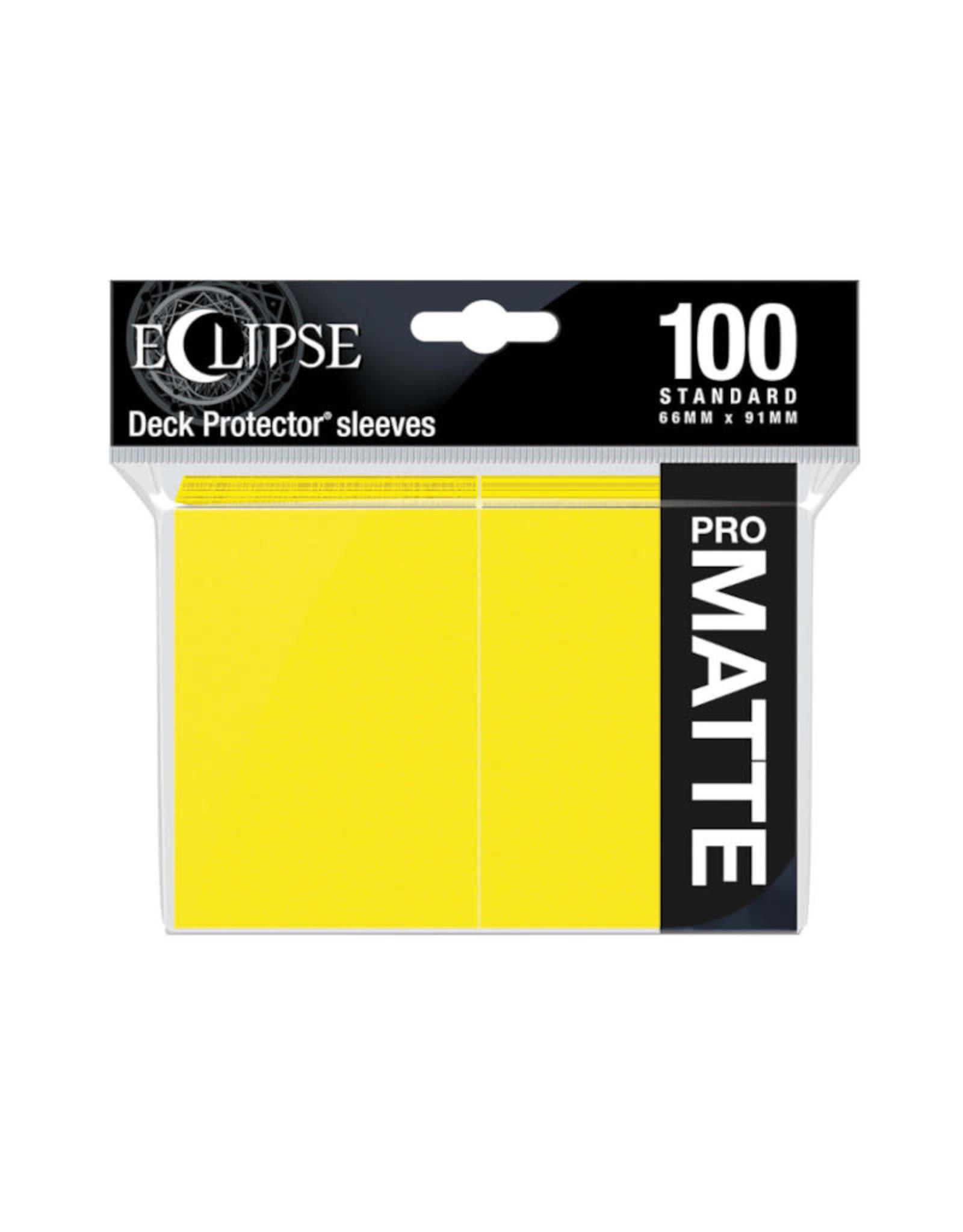 Sleeves: Pro-Matte Eclipse (100) Lemon Yellow