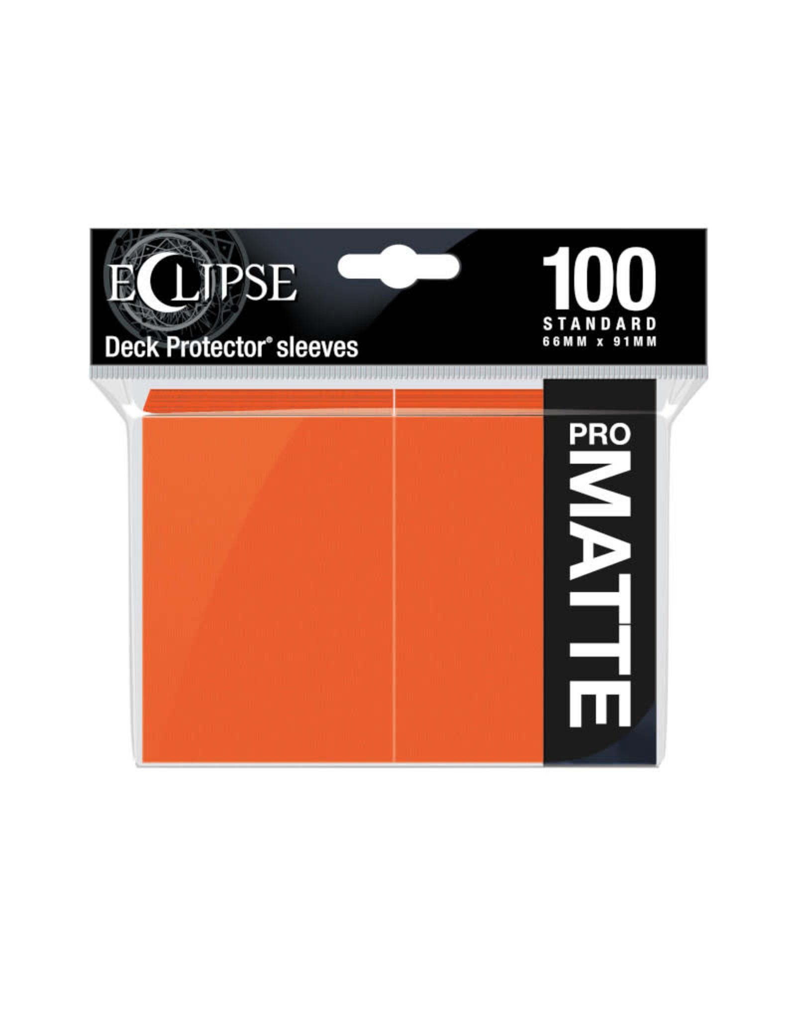 Sleeves: Pro-Matte Eclipse (100) Pumpkin Orange