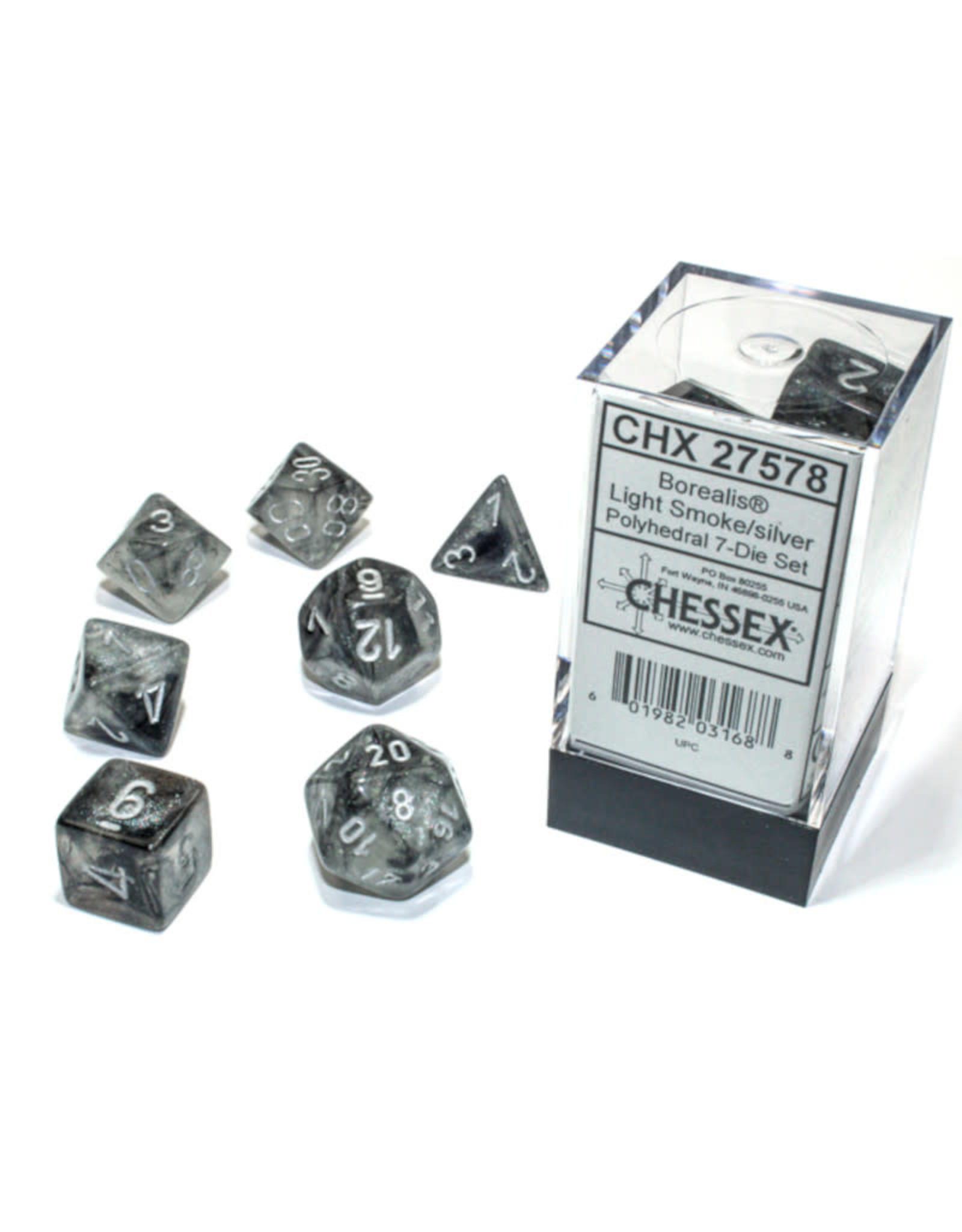 Chessex Polyhedral Dice Set: Borealis Light Smoke Set (7)