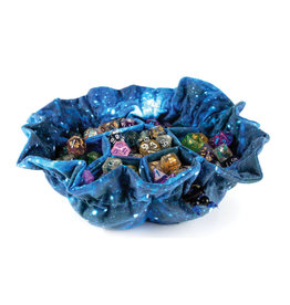 Metallic Dice Games Dice Bag: Velvet Compartment with Pockets Galaxy