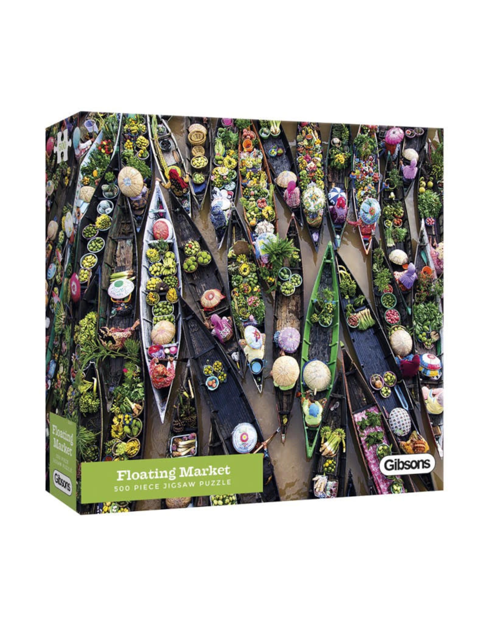 Gibsons Floating Market Puzzle 500 PCS
