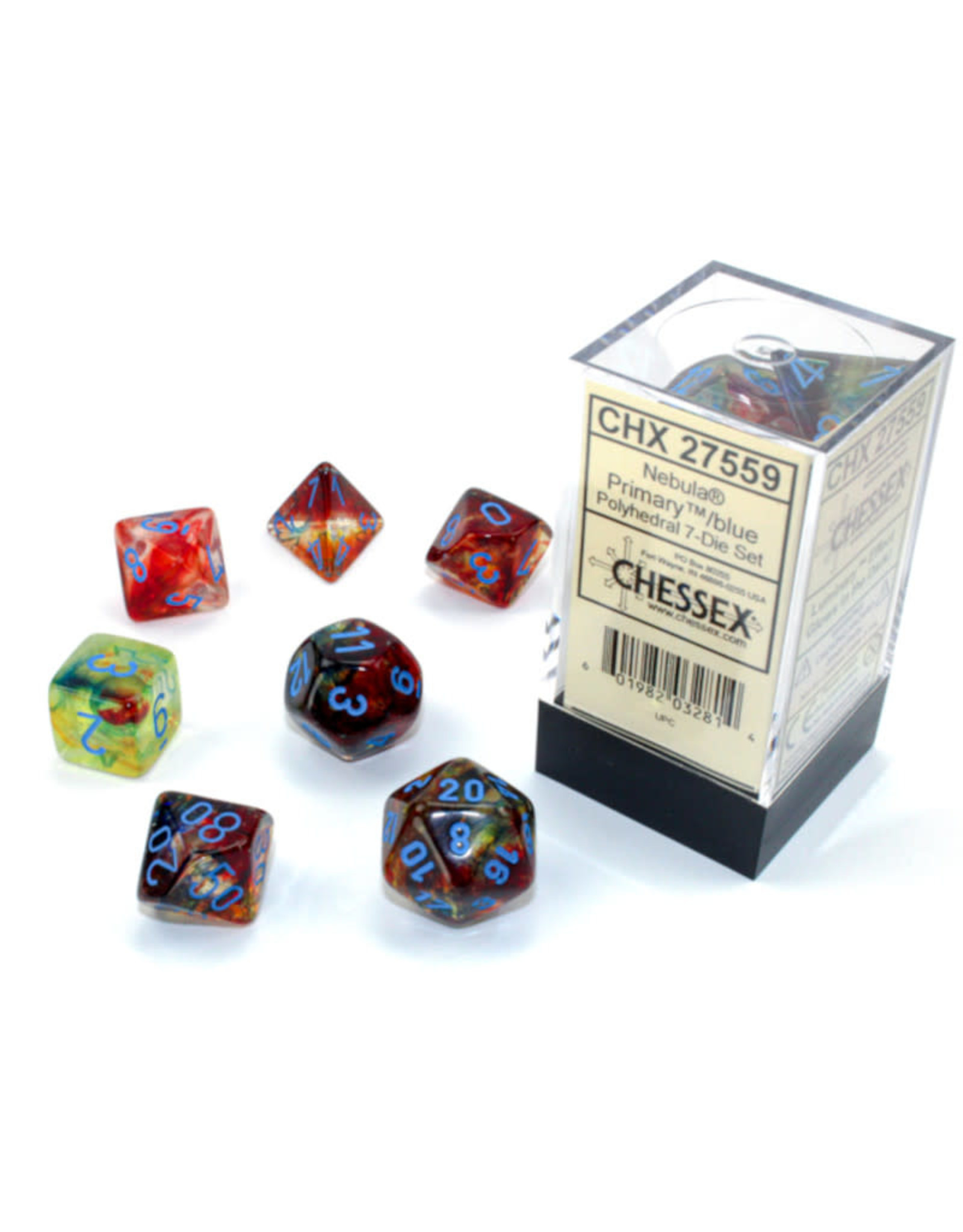 Chessex Polyhedral Dice Set: Luminary Primary (7)