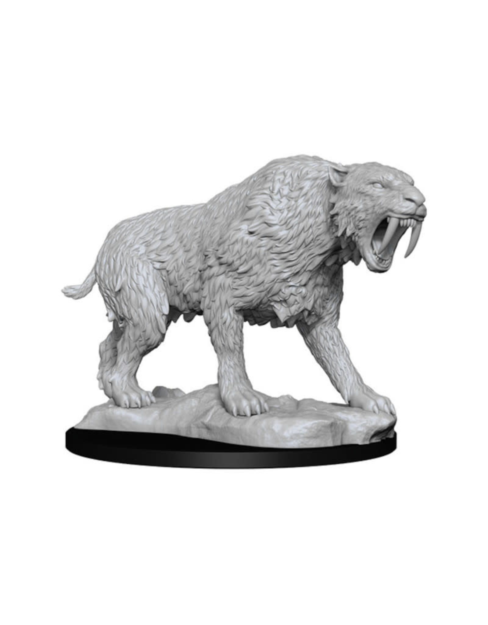 Wizkids Deep Cuts Unpainted Minis: Saber-Toothed Tiger