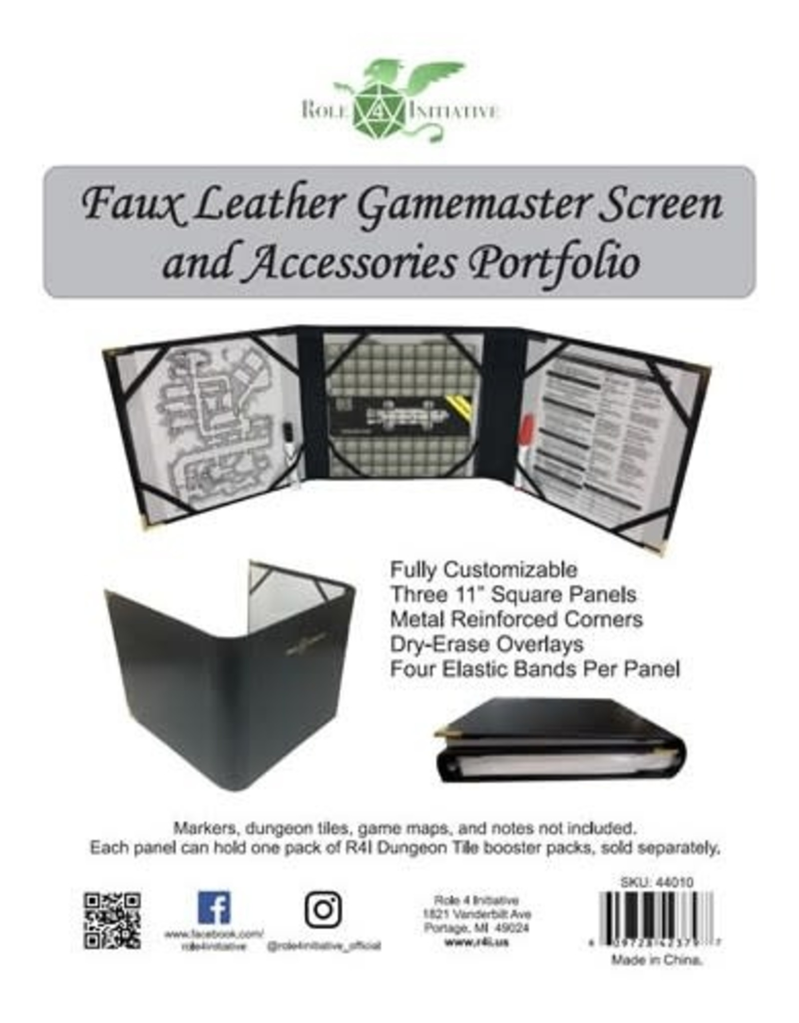 Role 4 Initiative GM Screen: R4I Faux-Leather Screen