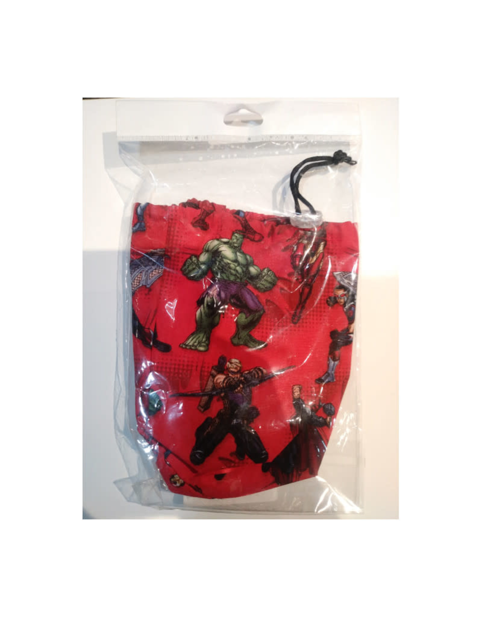 """Game Night Games Hand Made Dice Bag: Marvel Red 7""""x 3"""""""