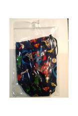 """Game Night Games Hand Made Dice Bag: DC Blue 7""""x 3"""""""
