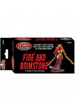 Reaper Fast Pallet Paint Set: Fire and Brimstone - Hot Reds (6 Colors)