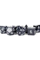 Metallic Dice Games Stone Polyhedral Dice Set: Blue Sandstone (7)