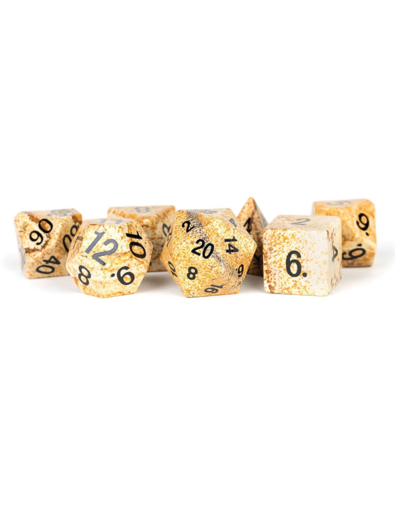 Metallic Dice Games Stone Polyhedral Dice Set: Jasper (7)