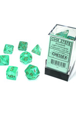 Chessex Polyhedral Dice Set: Borealis Light Green/Gold (7)