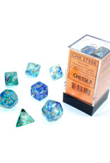 Chessex Polyhedral Dice Set: Luminary Oceanic/Gold (7)
