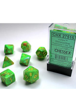 Chessex Polyhedral Dice Set: Vortex Slime Yellow (7)