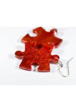Chessex Earring: Vortex Puzzle Piece