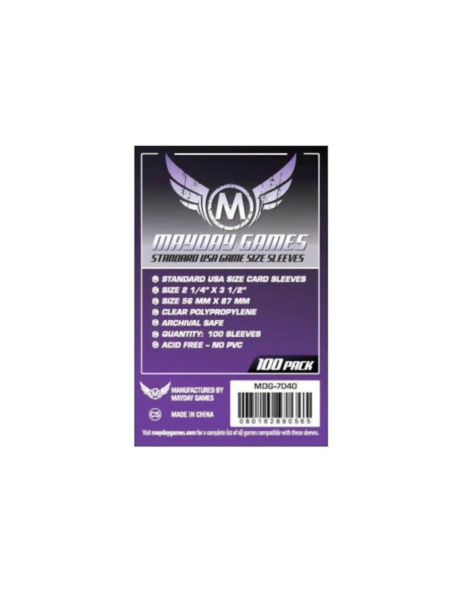 Mayday Games Sleeves: Standard American (100) (Purple)