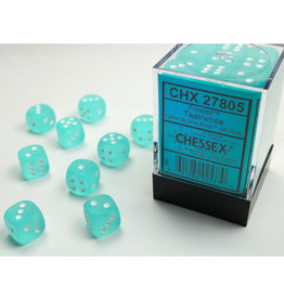Chessex D6 Dice: 12mm Frosted Teal(36)