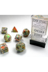 Chessex Polyhedral Dice Set: Festive Vibrant (7)