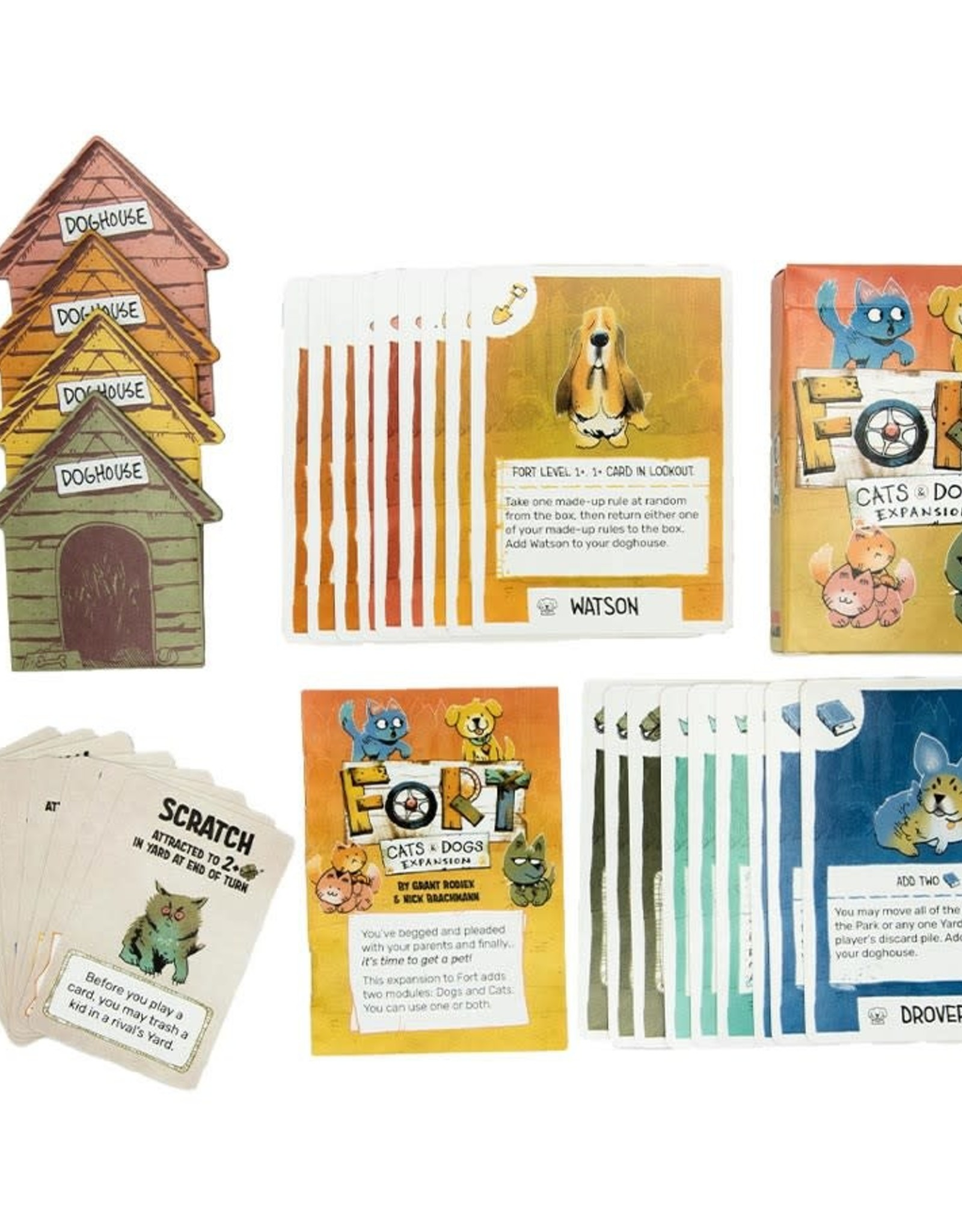 Leder Games (October 2021 - January 2022) Fort  Cats and Dogs Expansion