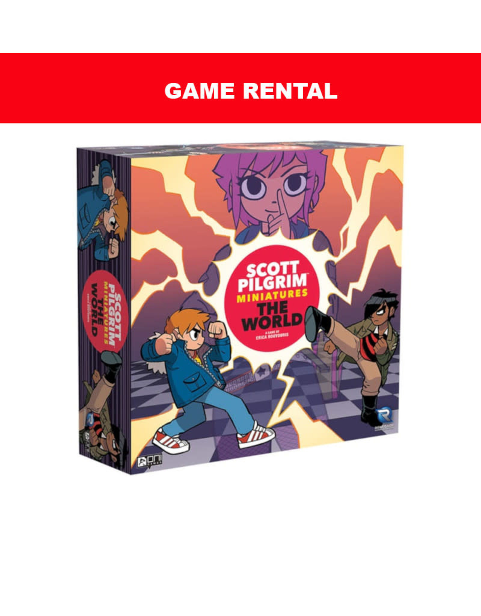 Renegade Games (RENT) Scott Pilgrim Miniatures Game For a Day. Love It! Buy It!
