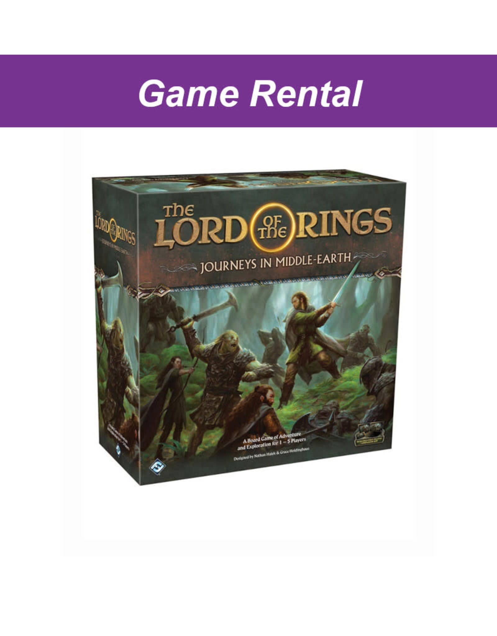 Fantasy Flight Games (RENT) Lord of the Rings: Journeys in Middle Earth for a Day. Love It! Buy It!