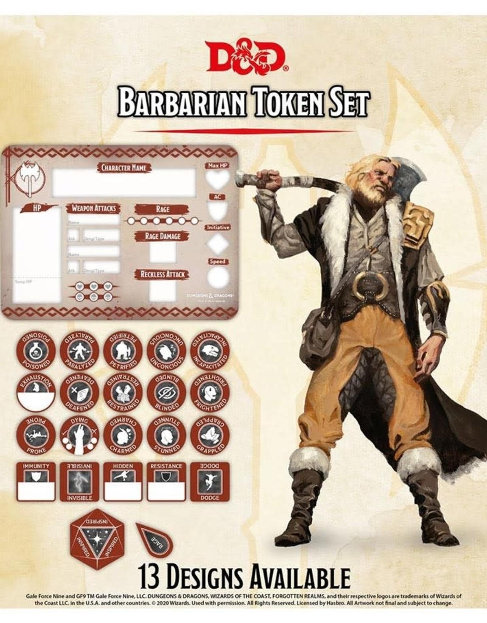 Gale Force 9 D&D RPG Token Set Barbarian
