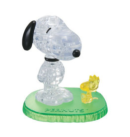 University Games 3D Crystal Snoopy and Woodstock Puzzle 45 PCS