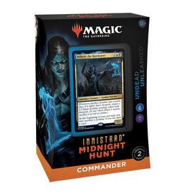 Wizards of the Coast (September-24 2021) MTG Commander Midnight Hunt Deck  Undead Unleashed