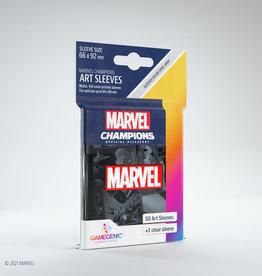 (January - March 2022) Marvel Champions Art Sleeves (50) Black Marvel