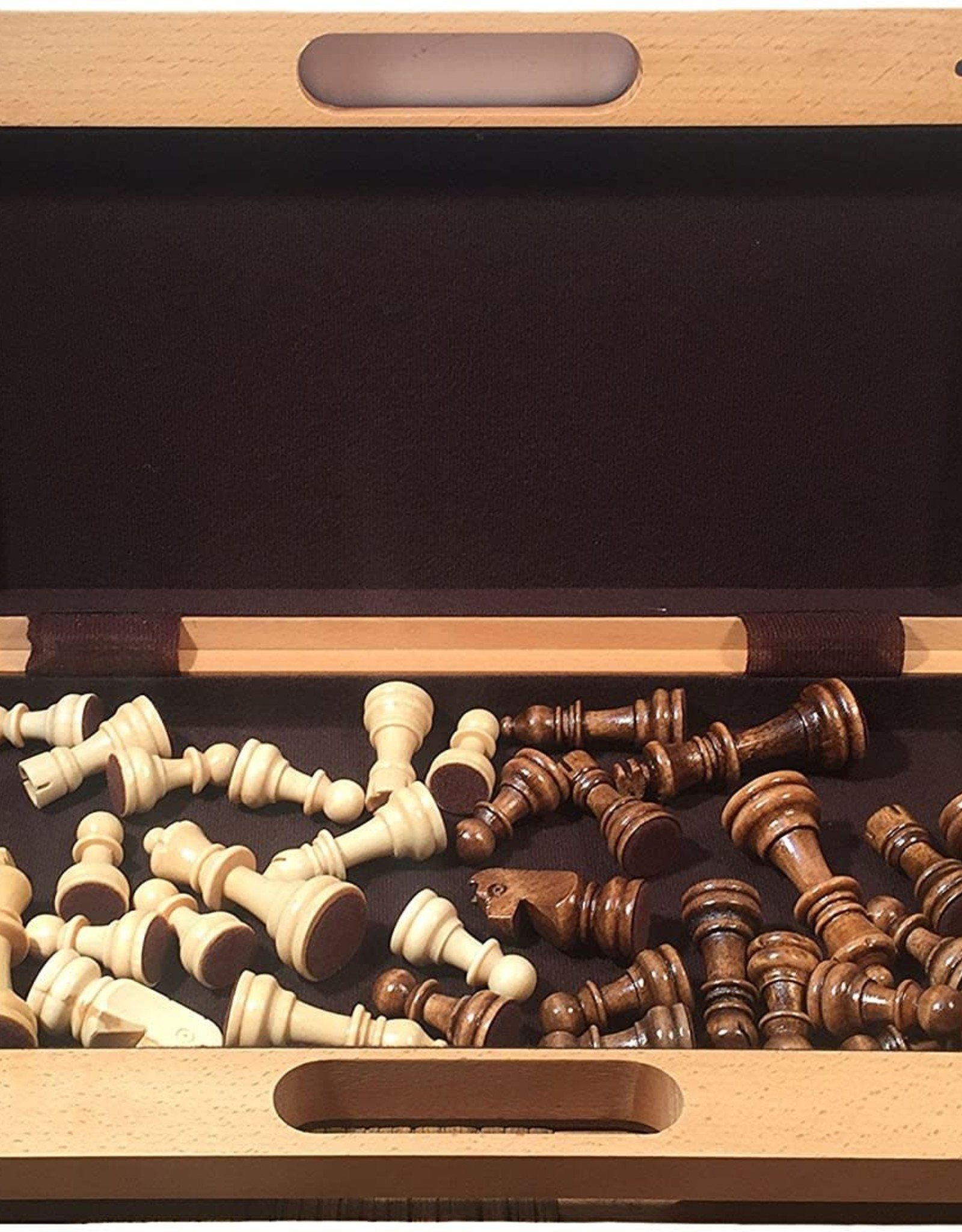 """Chess Set: 16"""" Folding Board with Handle"""