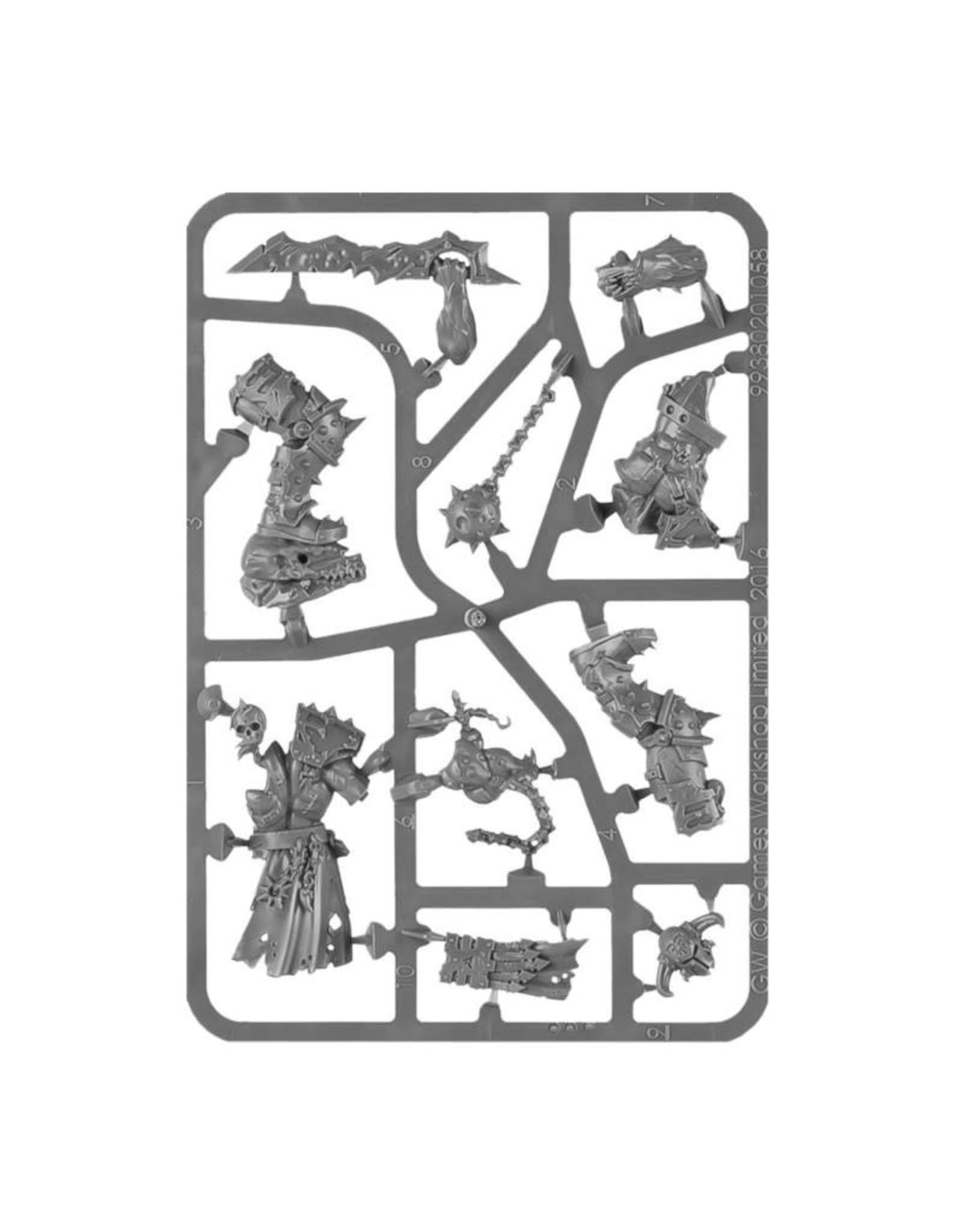 Games Workshop Warhammer Age of Sigmar: Chaos Khorne Bloodbound Slaughterpriest With Hackblade and Wrath-hammer