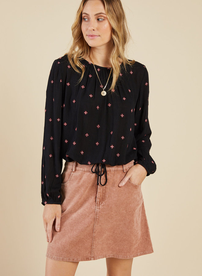 Bonfire Embroidered Top