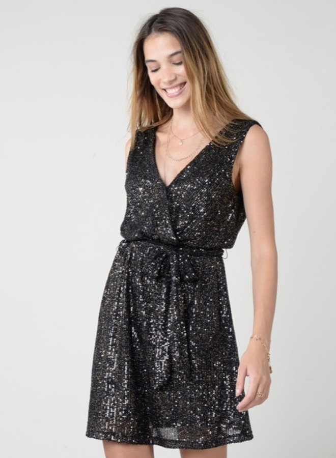 Coralie Foil Dress