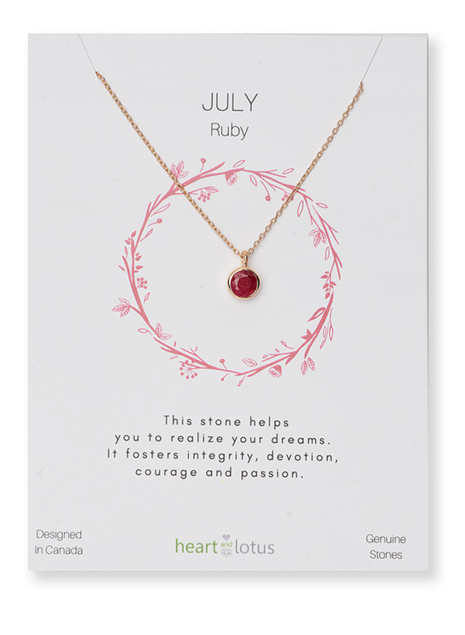 Birthstone Necklace - Rose Gold