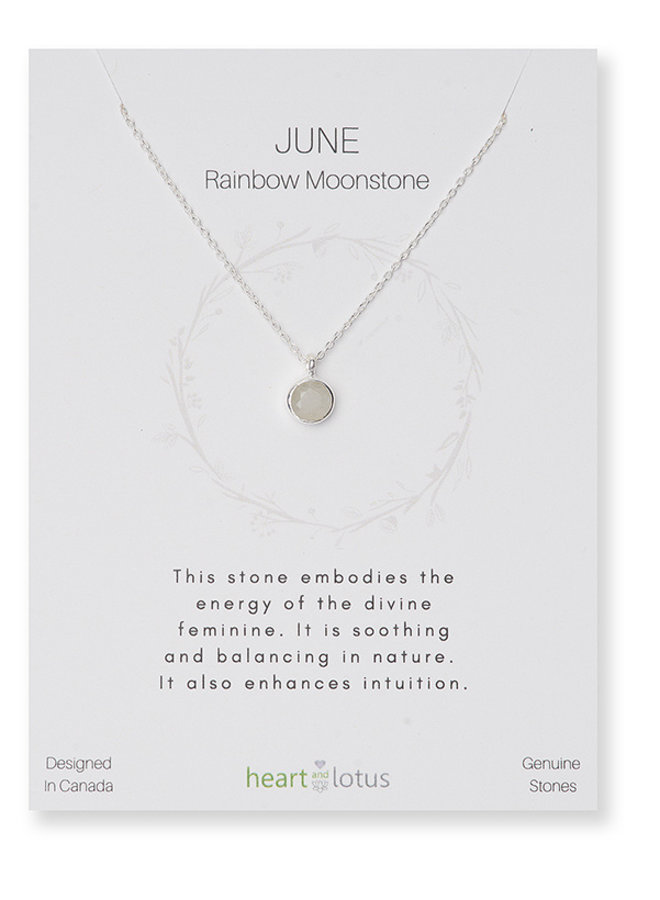 Birthstone Necklace - Sterling Silver