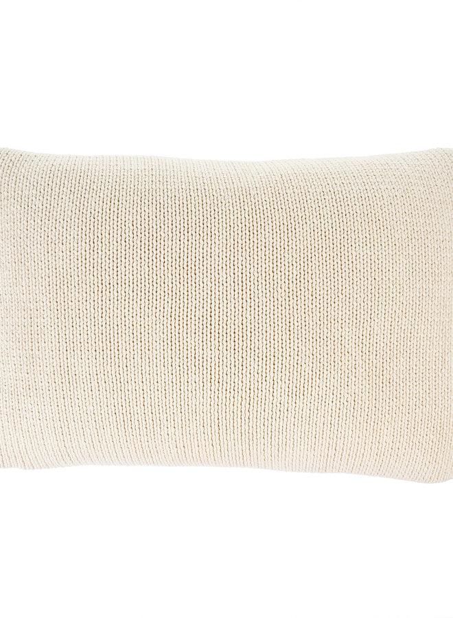 Cotton Knit Pillow - Natural