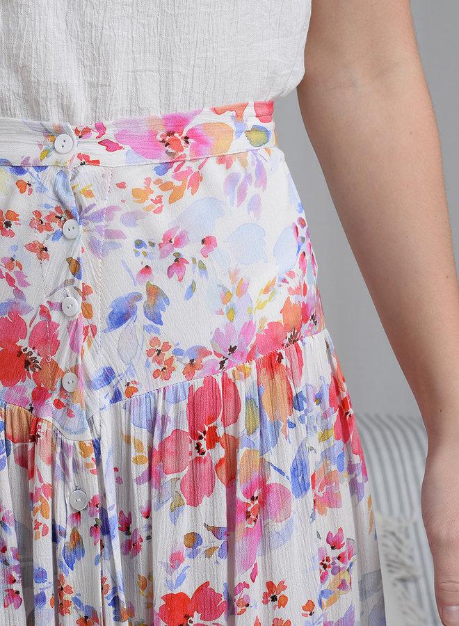 Elle Button Skirt