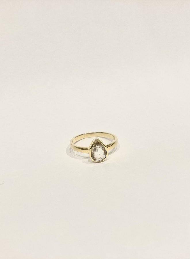 Small Pear Ring - Gold