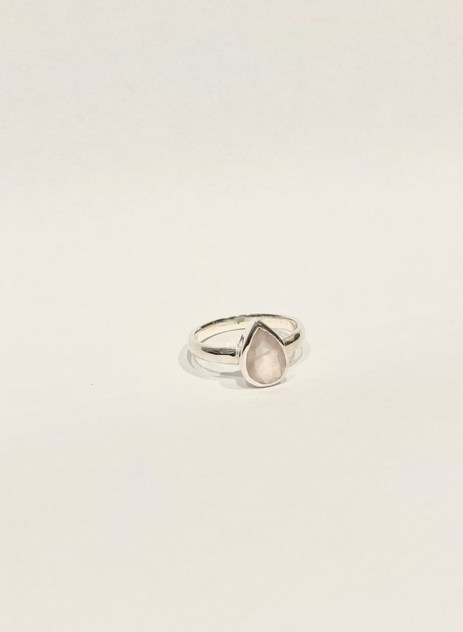 Small Pear Ring - Silver